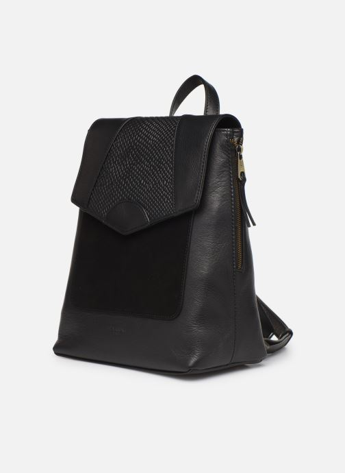 Rugzakken Hexagona SUNSHINE CUIR SAC A DOS Zwart model