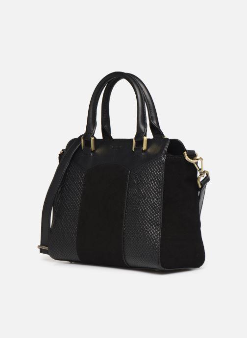 Bolsos de mano Hexagona SUNSHINE CUIR SAC A MAIN Negro vista del modelo