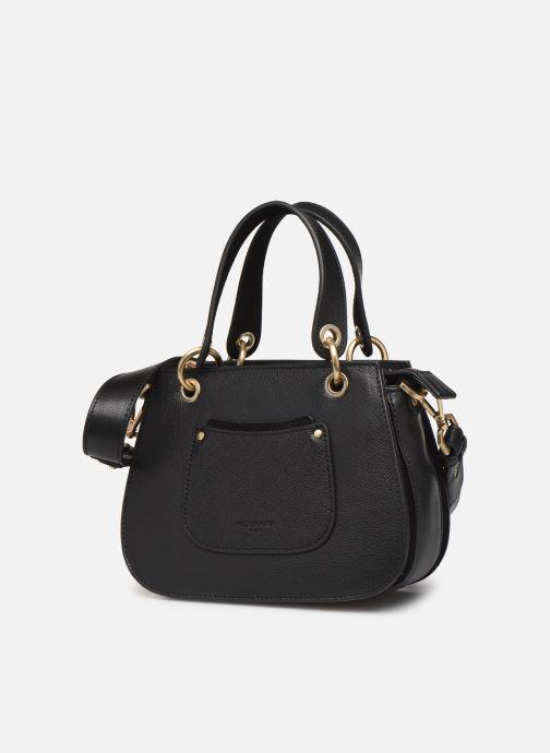 Handtaschen Hexagona DUNE CUIR DOUBLE PORTE schwarz schuhe getragen