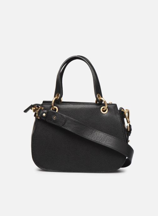 Handtaschen Hexagona DUNE CUIR DOUBLE PORTE schwarz ansicht von vorne