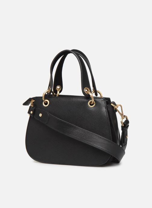 Handtaschen Hexagona DUNE CUIR DOUBLE PORTE schwarz ansicht von rechts
