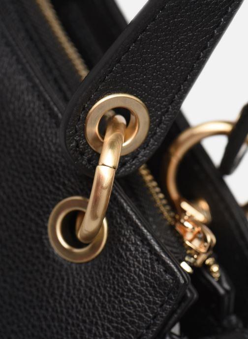Handtaschen Hexagona DUNE CUIR DOUBLE PORTE schwarz ansicht von links