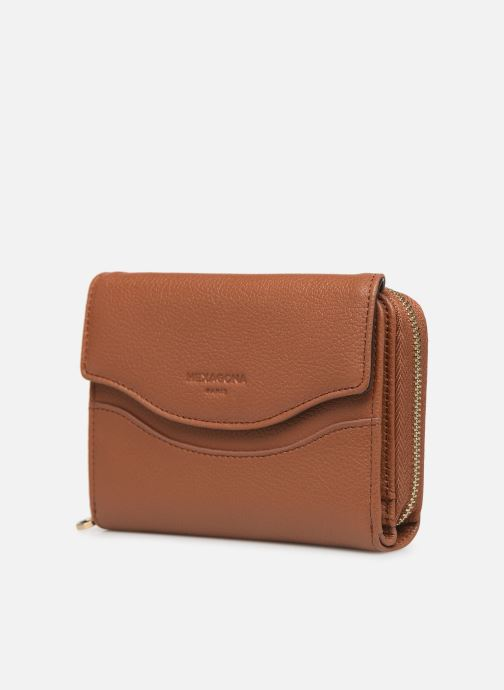 Wallets & cases Hexagona DUNE PORTE-MONNAIE CUIR ANTI RFID Brown model view