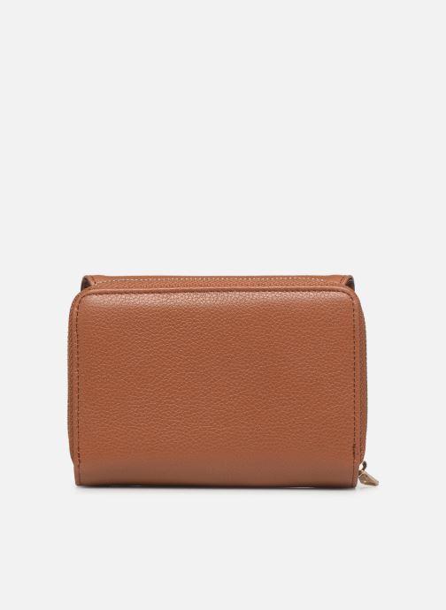 Wallets & cases Hexagona DUNE PORTE-MONNAIE CUIR ANTI RFID Brown front view