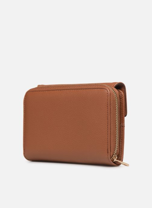 Wallets & cases Hexagona DUNE PORTE-MONNAIE CUIR ANTI RFID Brown view from the right