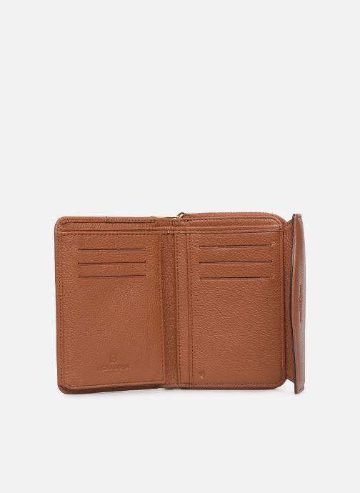 Wallets & cases Hexagona DUNE PORTE-MONNAIE CUIR ANTI RFID Brown back view