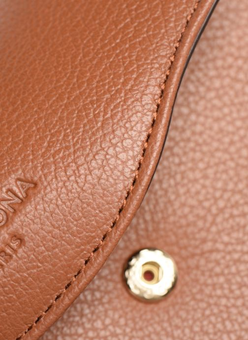 Wallets & cases Hexagona DUNE PORTE-MONNAIE CUIR ANTI RFID Brown view from the left