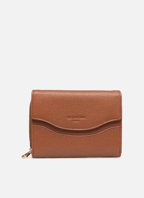 Wallets & cases Hexagona DUNE PORTE-MONNAIE CUIR ANTI RFID Brown detailed view/ Pair view