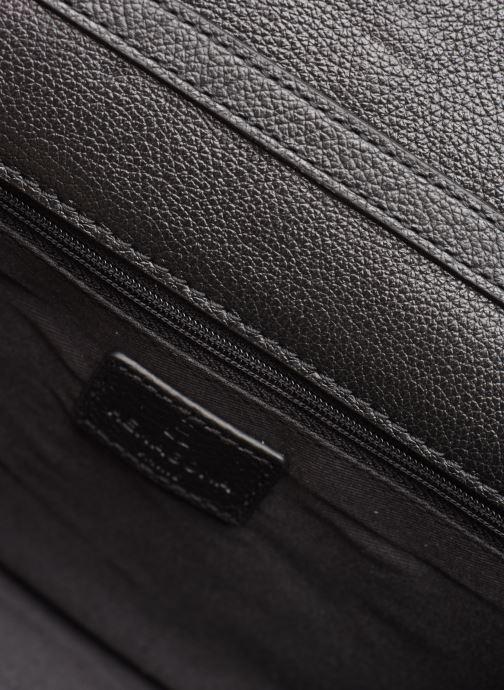 Handtassen Hexagona VELVET CUIR PATCH CROSSBODY Zwart achterkant
