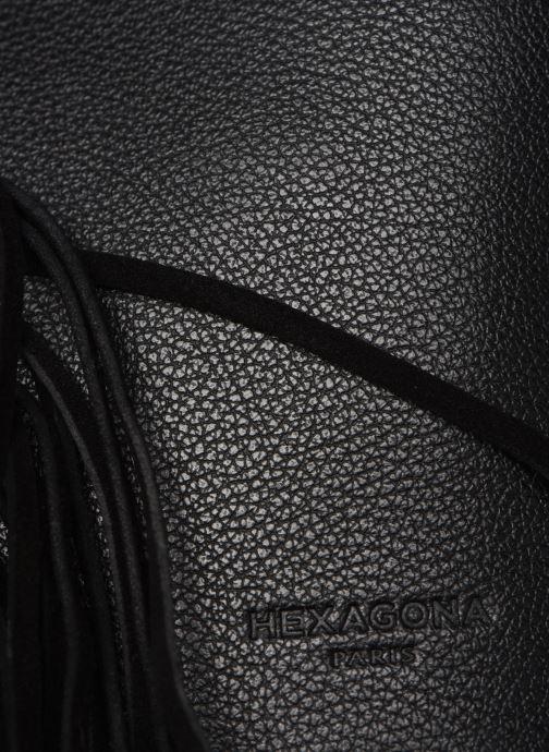 Bolsos de mano Hexagona VELVET CUIR CROSSBODY Negro vista lateral izquierda