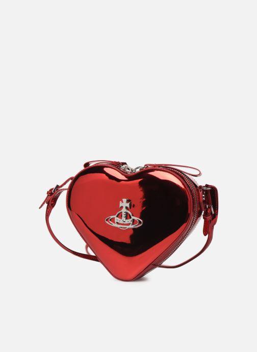 Sacs à main Vivienne Westwood Heart Crossbody Bag Rouge vue portées chaussures