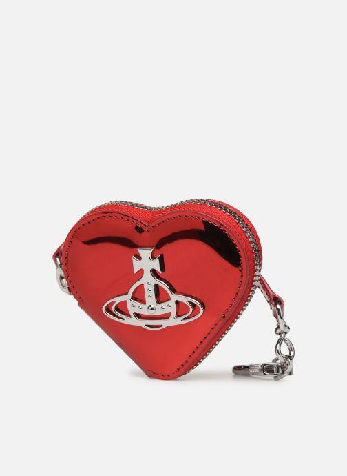 Petite Maroquinerie Vivienne Westwood Heart Coin Case Rouge vue portées chaussures