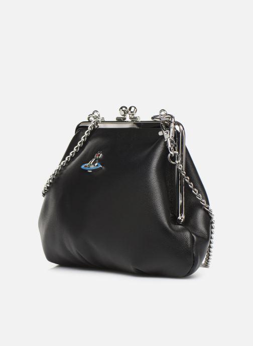 Sacs à main Vivienne Westwood Frame Purse Noir vue portées chaussures