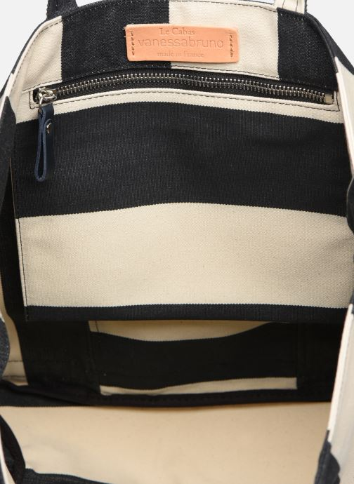Handtassen Vanessa Bruno Cabas Rayure Wit achterkant