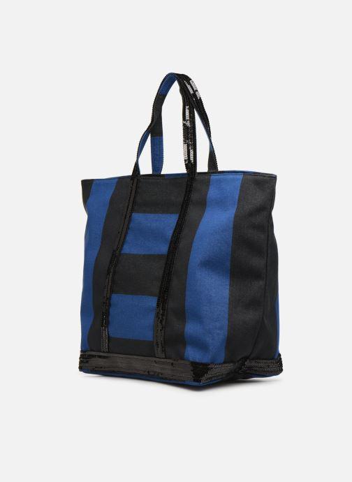 Bolsos de mano Vanessa Bruno Cabas Rayure Azul vista del modelo