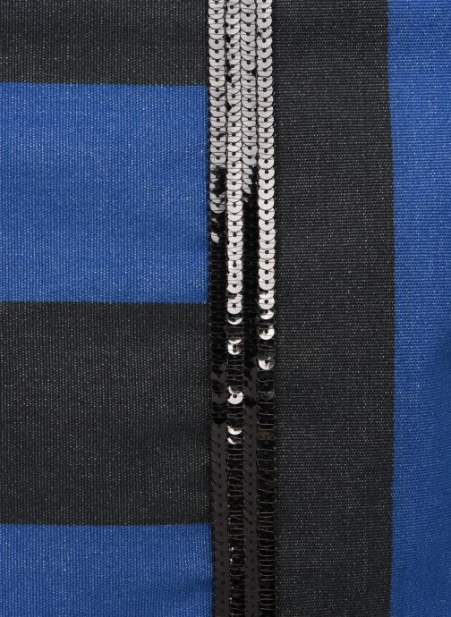 Bolsos de mano Vanessa Bruno Cabas Rayure Azul vista lateral izquierda
