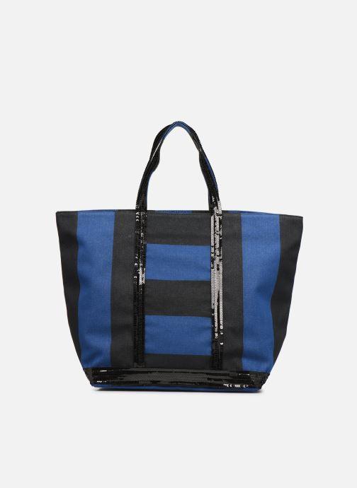 Bolsos de mano Vanessa Bruno Cabas Rayure Azul vista de detalle / par