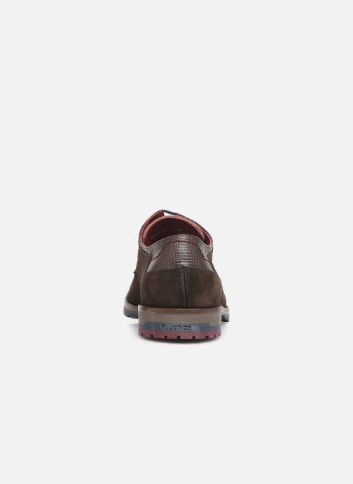 Zapatos con cordones Fluchos Ciclope 0273 Marrón vista lateral derecha