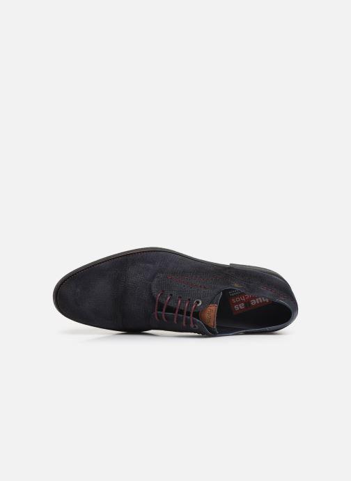 Chaussures à lacets Fluchos Gamma 0654 Bleu vue gauche
