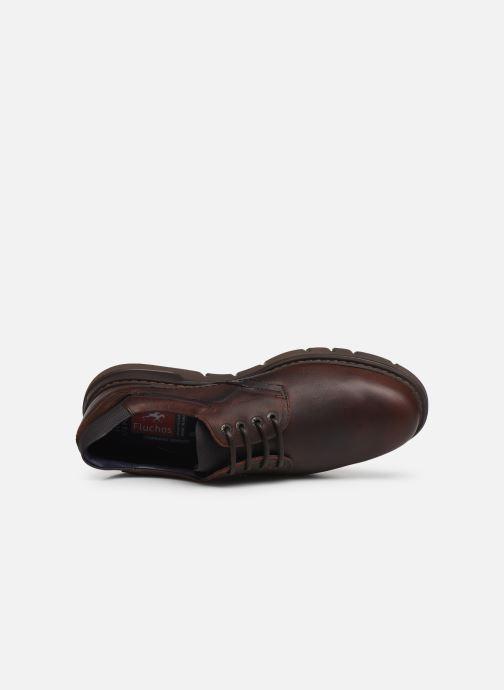 Zapatos con cordones Fluchos Celtic 0247 Marrón vista lateral izquierda