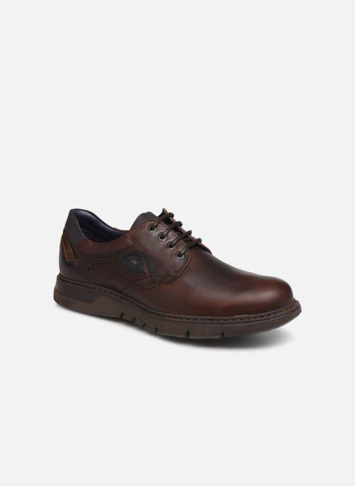 Snøresko Fluchos Celtic 0247 Brun detaljeret billede af skoene