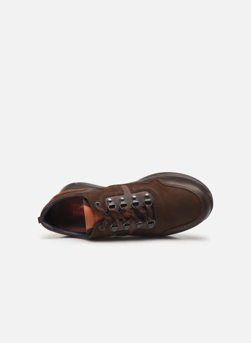 Trainers Fluchos Cypher 0659 Brown view from the left