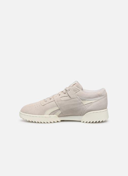 Sneakers Reebok Workout Clean Ripple Mu Grijs voorkant