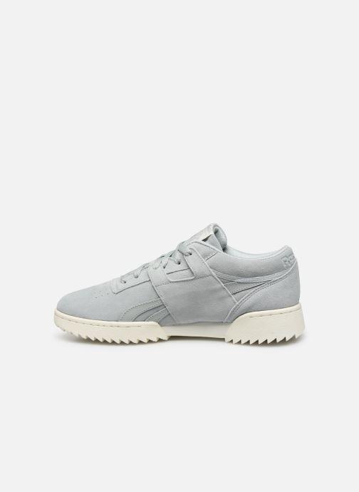 Sneakers Reebok Workout Clean Ripple Mu Azzurro immagine frontale