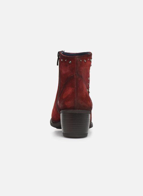 Bottines et boots Dorking Jump 8099 Rouge vue droite