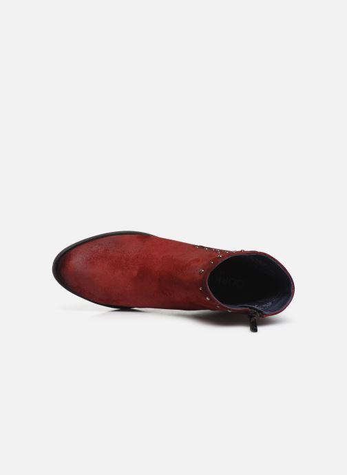 Bottines et boots Dorking Jump 8099 Rouge vue gauche