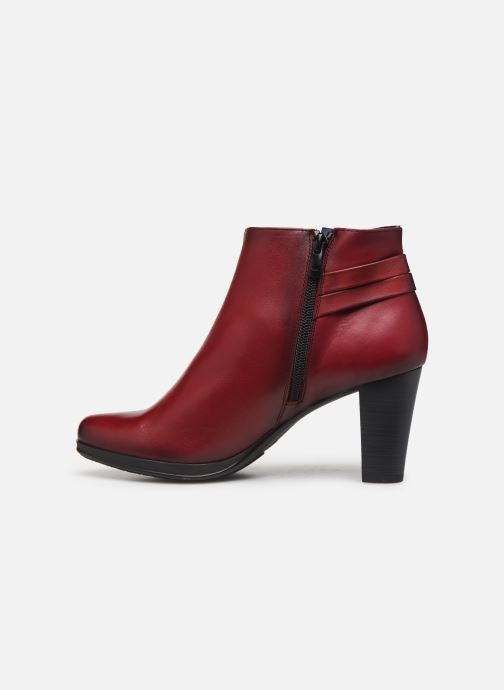 Bottines et boots Dorking Luna 7934 Rouge vue face