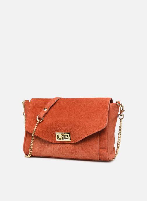 Sacs à main Georgia Rose Meloute Leather Orange vue portées chaussures