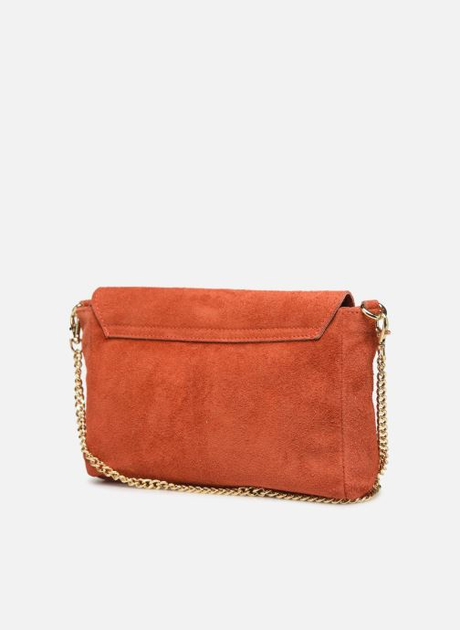 Sacs à main Georgia Rose Meloute Leather Orange vue droite