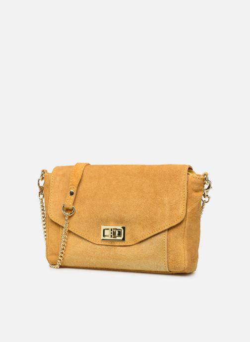 Handtaschen Georgia Rose Meloute Leather gelb schuhe getragen