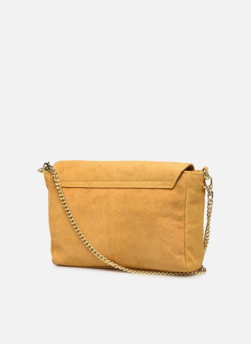 Bolsos de mano Georgia Rose Meloute Leather Amarillo vista lateral derecha
