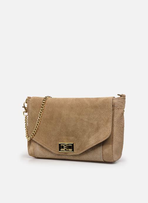Bolsos de mano Georgia Rose Meloute Leather Beige vista del modelo