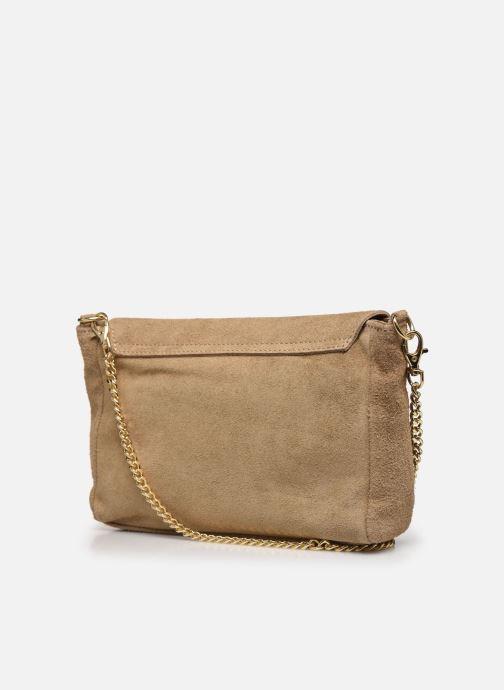 Bolsos de mano Georgia Rose Meloute Leather Beige vista lateral derecha
