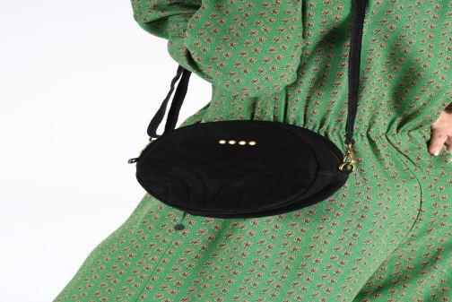 Sacs à main Georgia Rose Mirond Leather Noir vue bas / vue portée sac