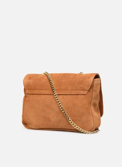 Handbags Georgia Rose Melia Leather Brown view from the right