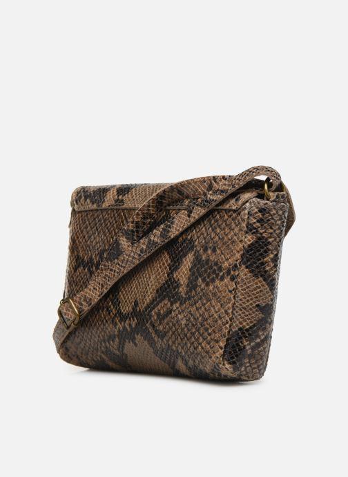 Handtaschen Georgia Rose Maya Leather braun ansicht von rechts
