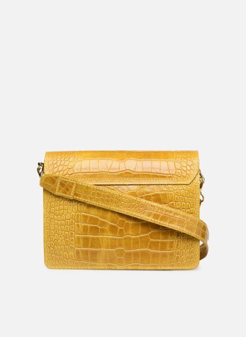 Bolsos de mano Georgia Rose Macroco Leather Amarillo vista de frente