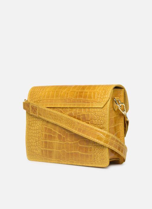 Bolsos de mano Georgia Rose Macroco Leather Amarillo vista lateral derecha