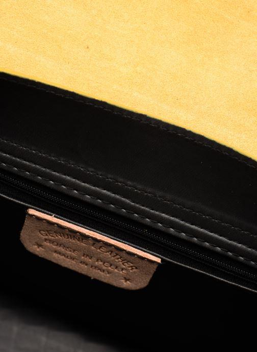 Bolsos de mano Georgia Rose Macroco Leather Amarillo vistra trasera