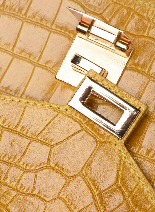 Bolsos de mano Georgia Rose Macroco Leather Amarillo vista lateral izquierda