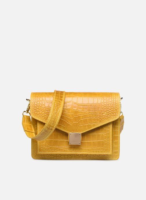Bolsos de mano Georgia Rose Macroco Leather Amarillo vista de detalle / par