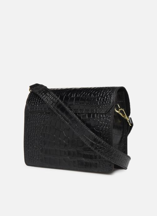 Sacs à main Georgia Rose Macroco Leather Noir vue droite