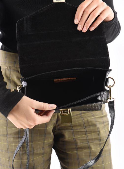 Sacs à main Georgia Rose Macroco Leather Noir vue derrière