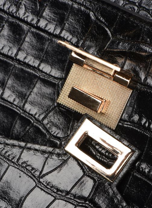 Sacs à main Georgia Rose Macroco Leather Noir vue gauche