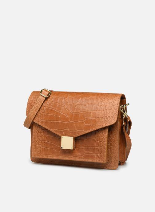 Bolsos de mano Georgia Rose Macroco Leather Marrón vista del modelo