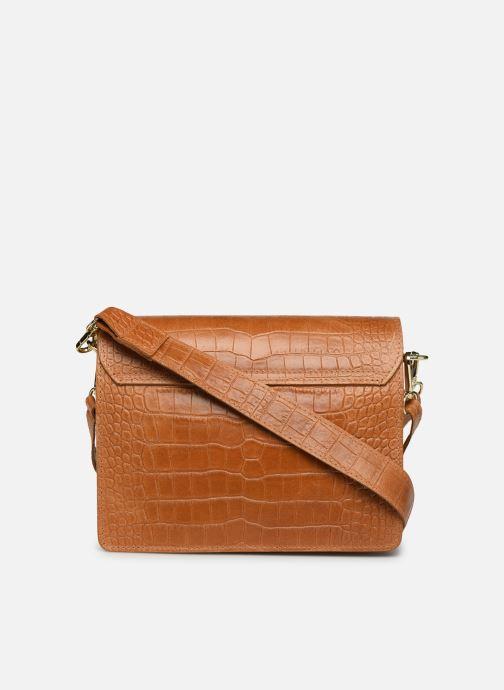 Bolsos de mano Georgia Rose Macroco Leather Marrón vista de frente